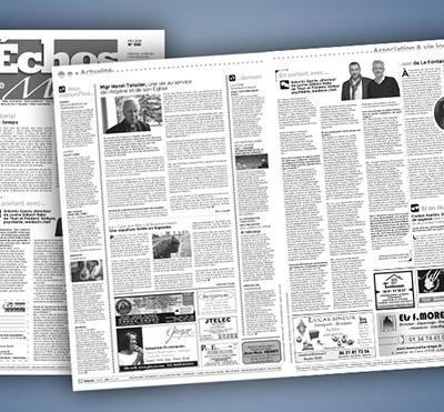 Portfolio Atelier la Marelle : Un journal pour une association